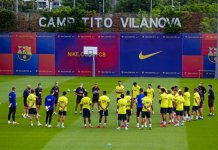 Barcelona entrenó normal
