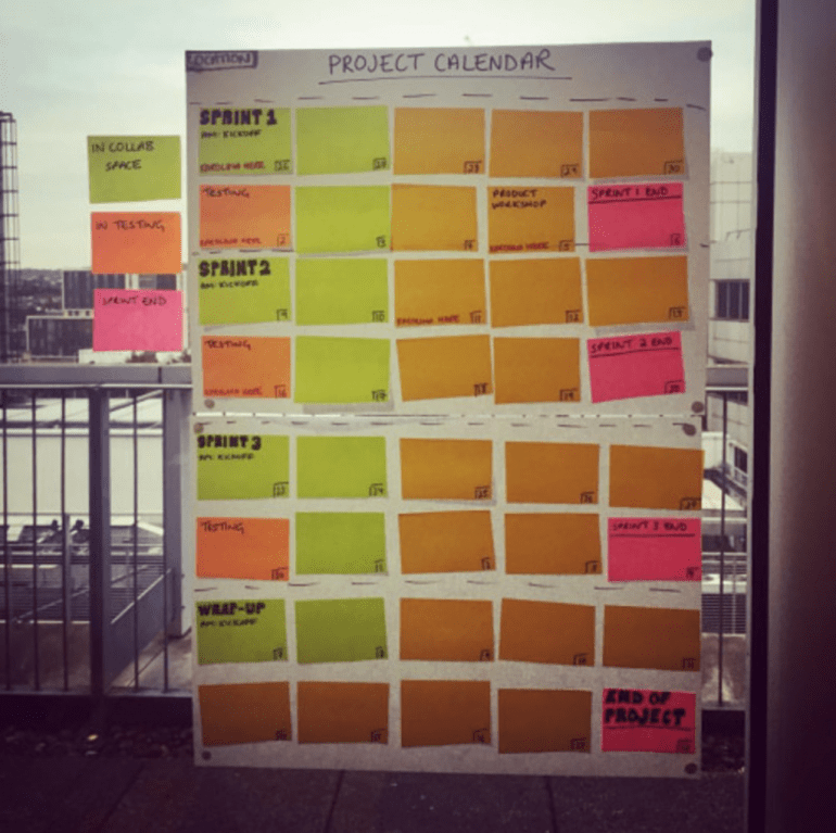 design sprint calendar example