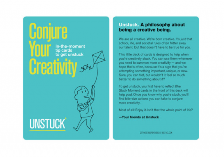 conjure creativity cards unstuck