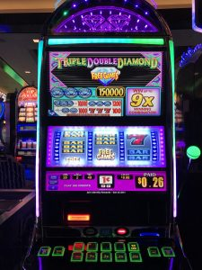 An example of a slot machine in New York New York casino and hotel, Las Vegas