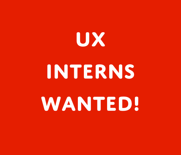 ux interns wanted