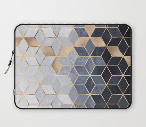 elisabeth fredriksson laptop sleeve with geometric print