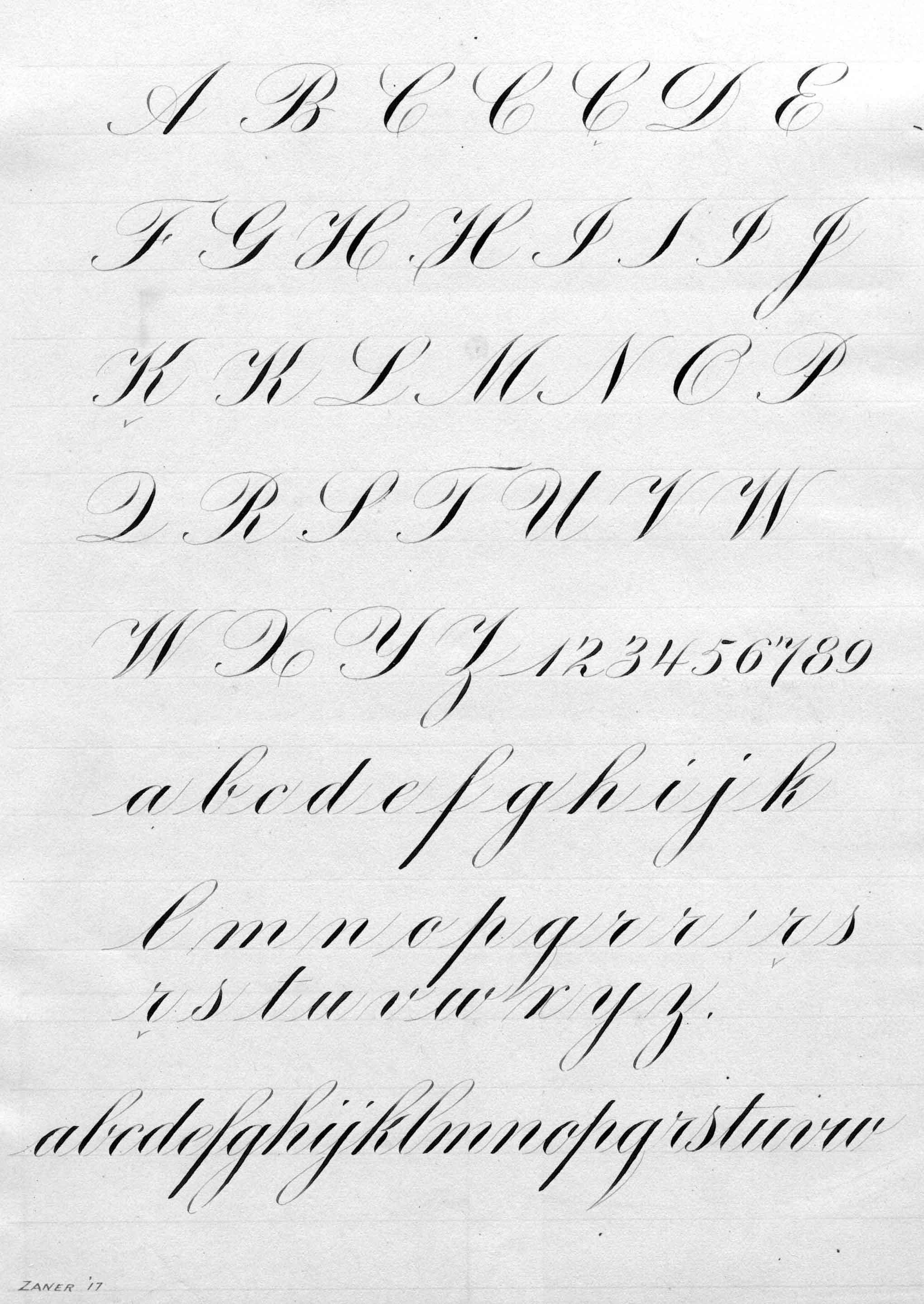 Engrosser S Script Exemplar