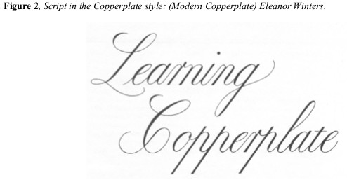 Demystifying the Copperplate/Spencerian Script Enigma