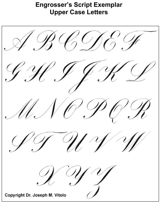 Script in the Copperplate Style: Engrosser's Script