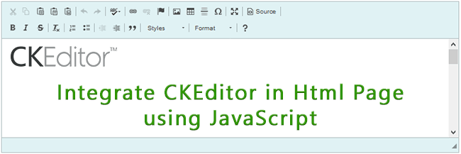 Integrate CKEditor in Html Page using JavaScript - Ramraj