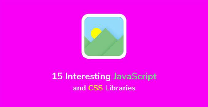 15 Interesting JavaScript and CSS Libraries for September 2017 - 15 Interesting JavaScript and CSS Libraries for September 2017