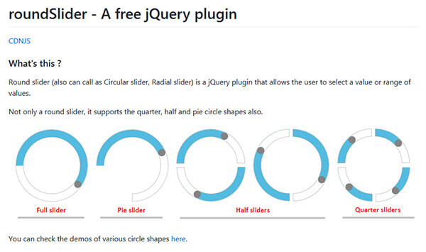 Round Slider - 15 flashy jQuery plugins