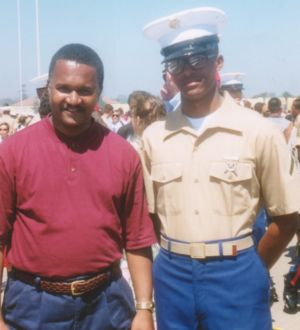 With Dad At Boot Camp Grad