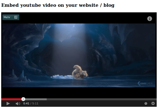 Embed youtube video on your website blog with custom controls reheart Images