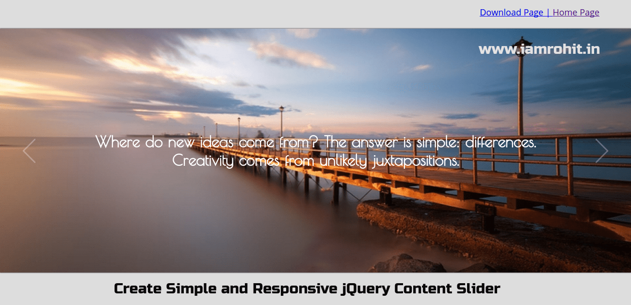Create Simple and Responsive jQuery Content Slider