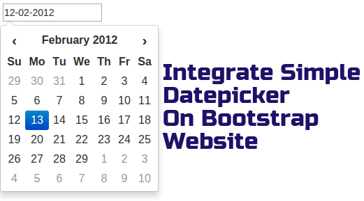 Integrate Simple Datepicker On Bootstrap Website Rohit Kumar
