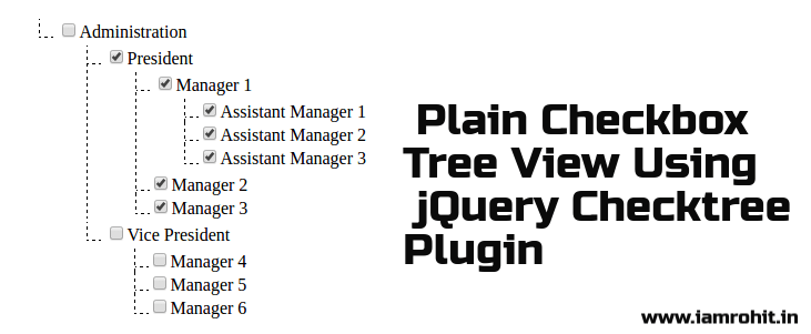 Treeview using jquery example