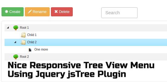Create Nice Responsive Tree View Menu Using Jquery jsTree