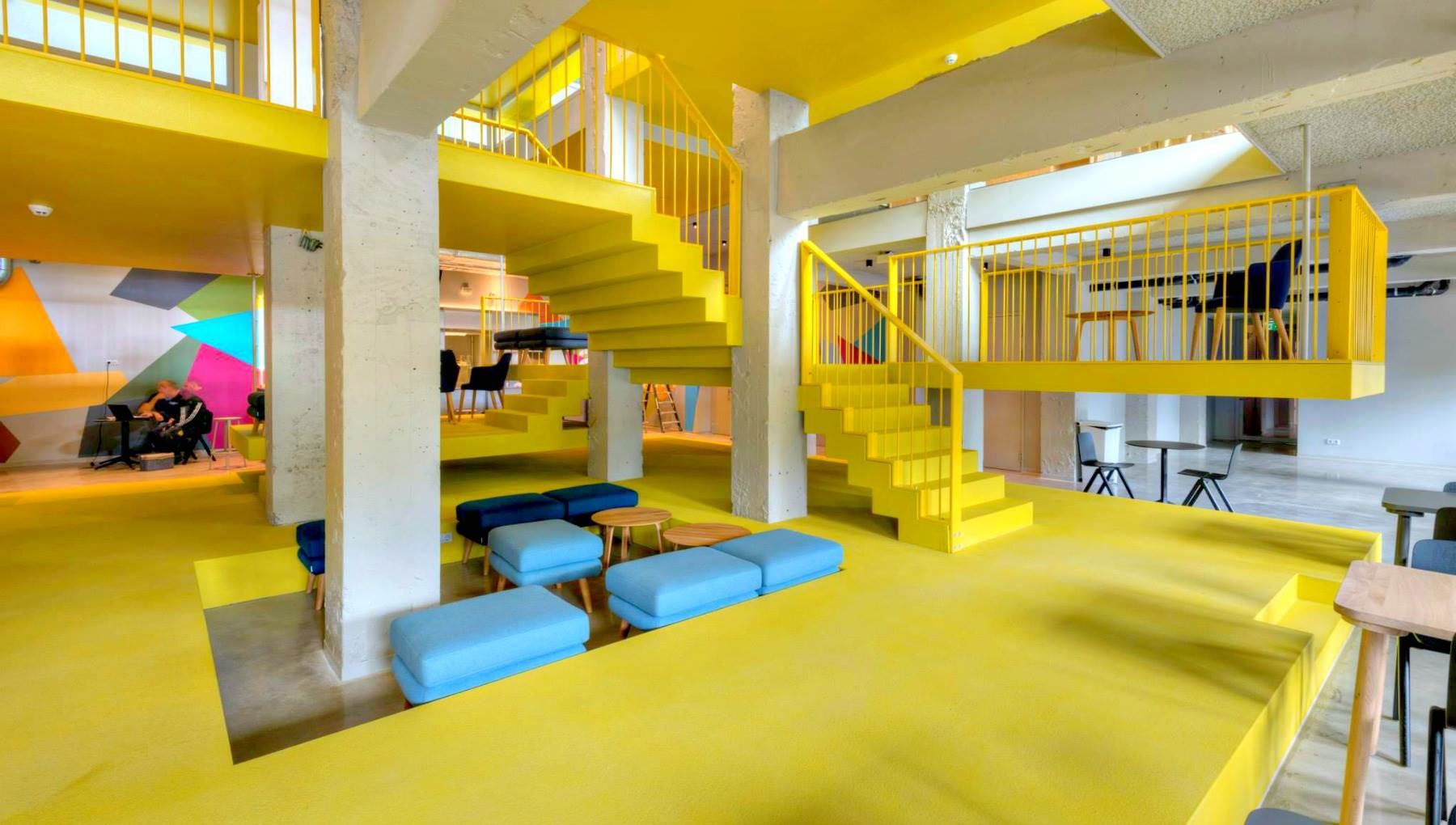 Image of stairwell at via Amsterdam hostel