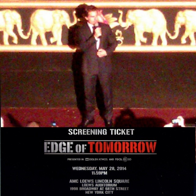 Tabou TMF's Pic of Tom Cruise at The  Edge Of Tomorrow 2014 Premiere in New York
