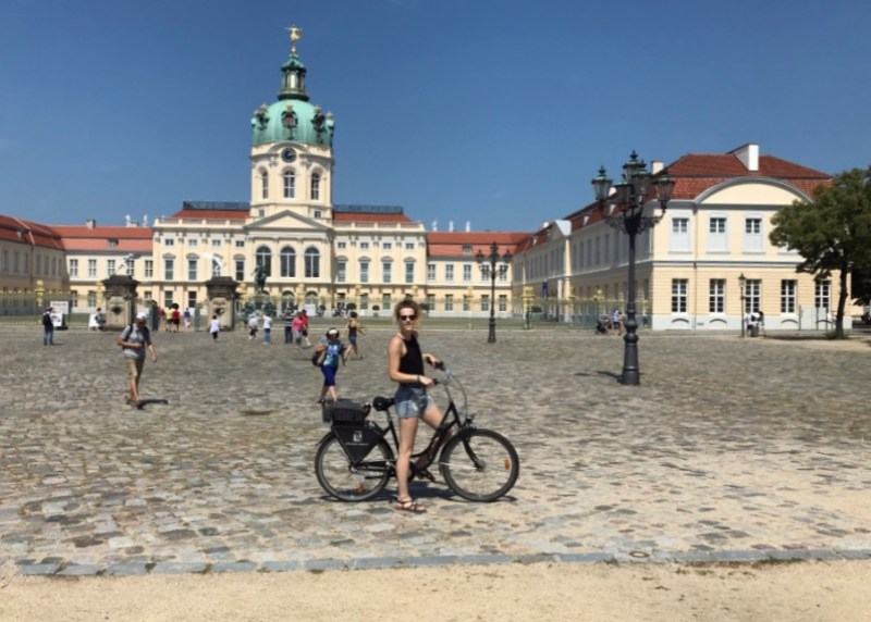Even poseren voor Schloss Charlottenburg