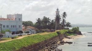 De vuurtoren van Galle in Sri Lanka
