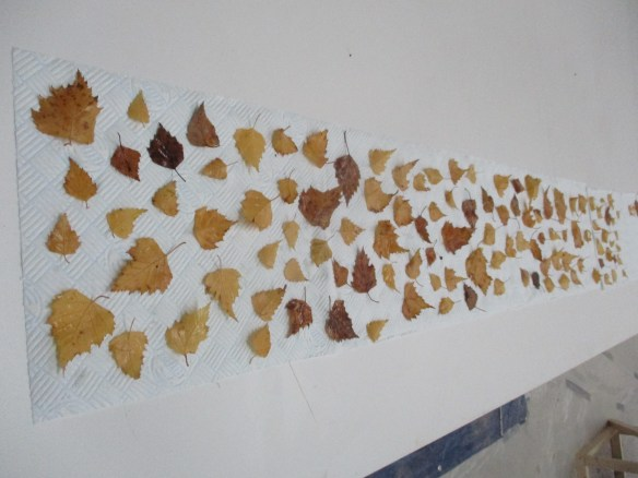 120 birch leaves