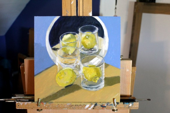 painting of lemons