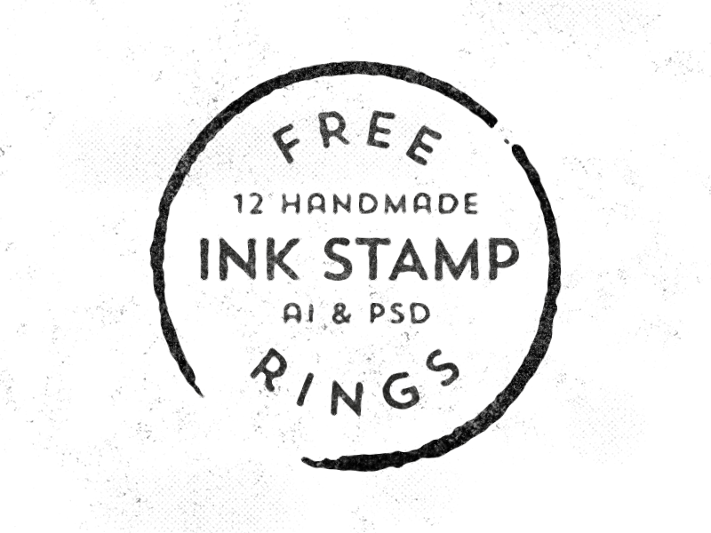 12 Free Handmade Vector Stamp Rings