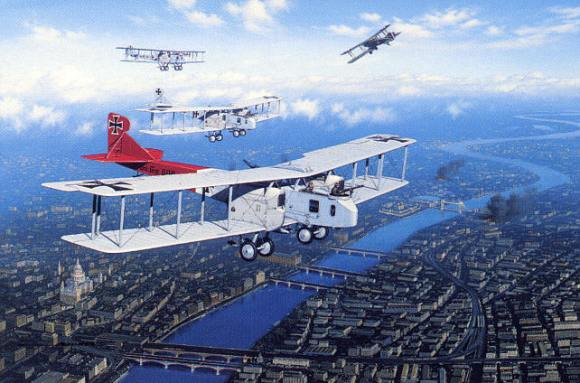Gotha G.V. Bombers over London (depiction)