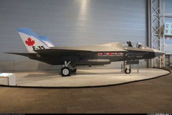 Wooden Mockup of Canada's F-35