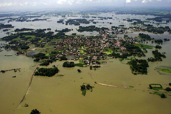 Rain floods landfilled clinical wastes