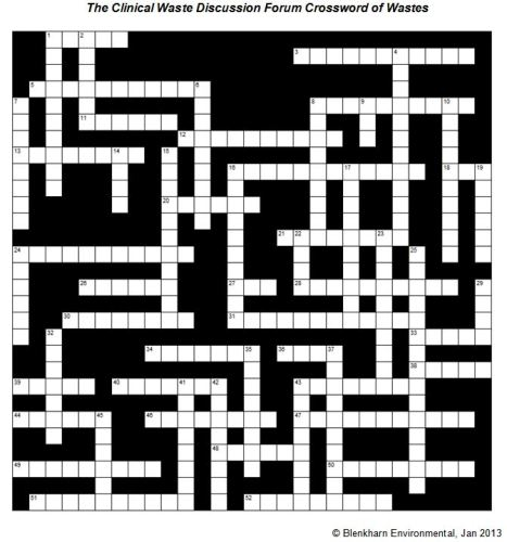 A Crossword of Waste
