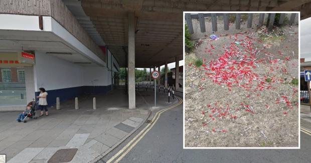 Anger and slow response as 100 needles dumped in Newport lane