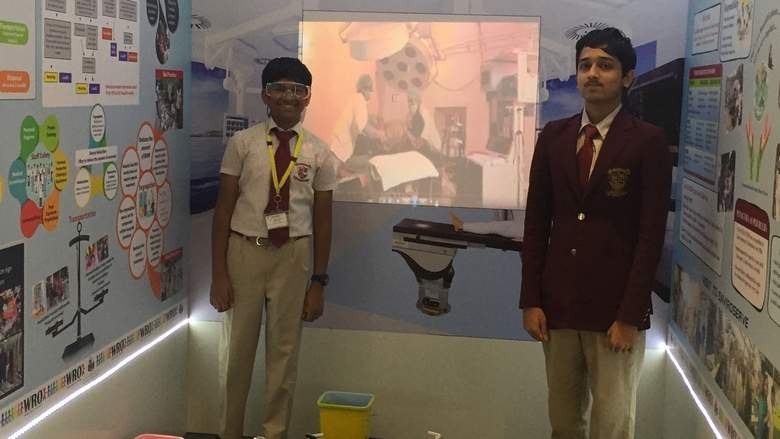 Dubai students design robot that sorts biomedical waste