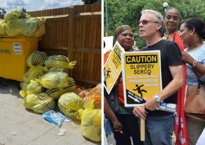 Clinical waste piles up at Whipps Cross Hospital