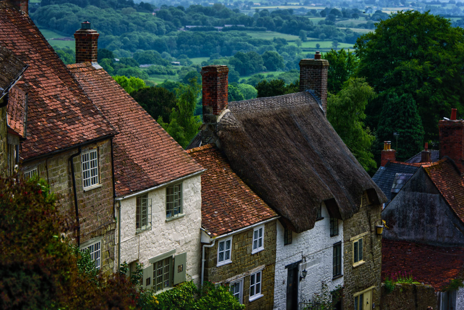 The beautiful village of Shaftesbury in Dorset, England.