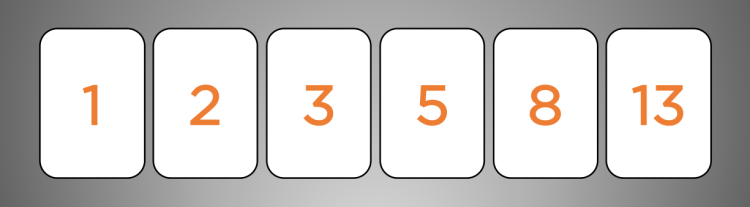 Planning poker cards - fibonacci