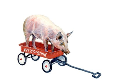"Pig on a Wagon/""Pulled Pork"""