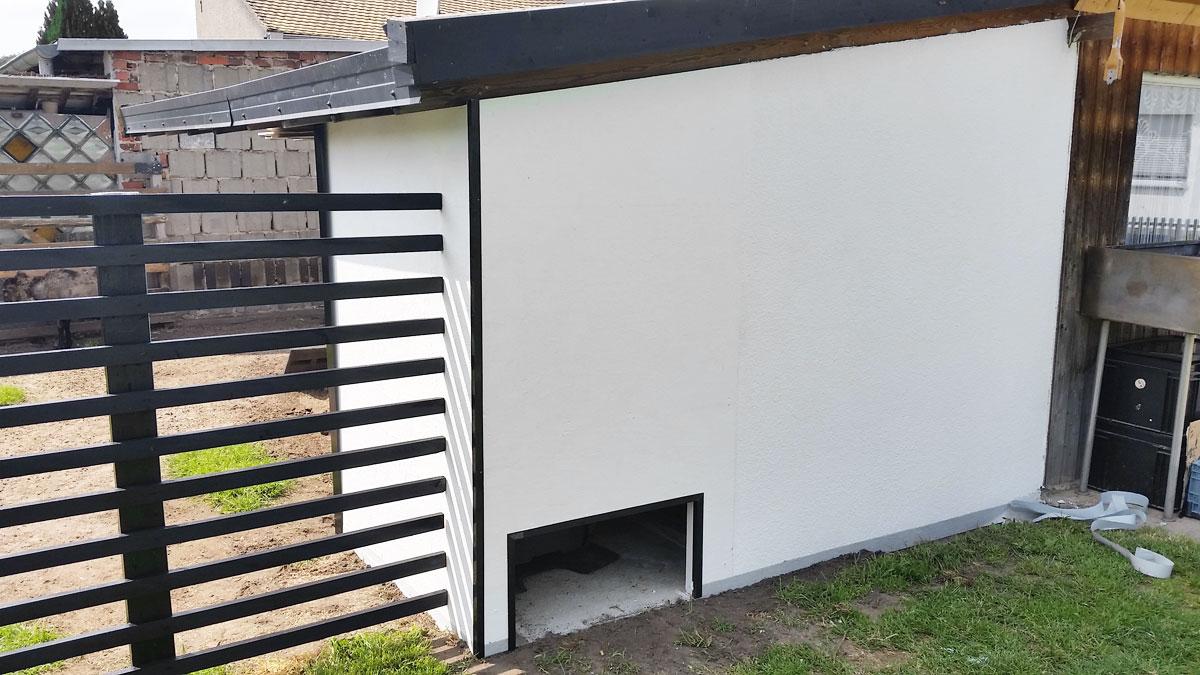 Mähroboter Garage selbst bauen