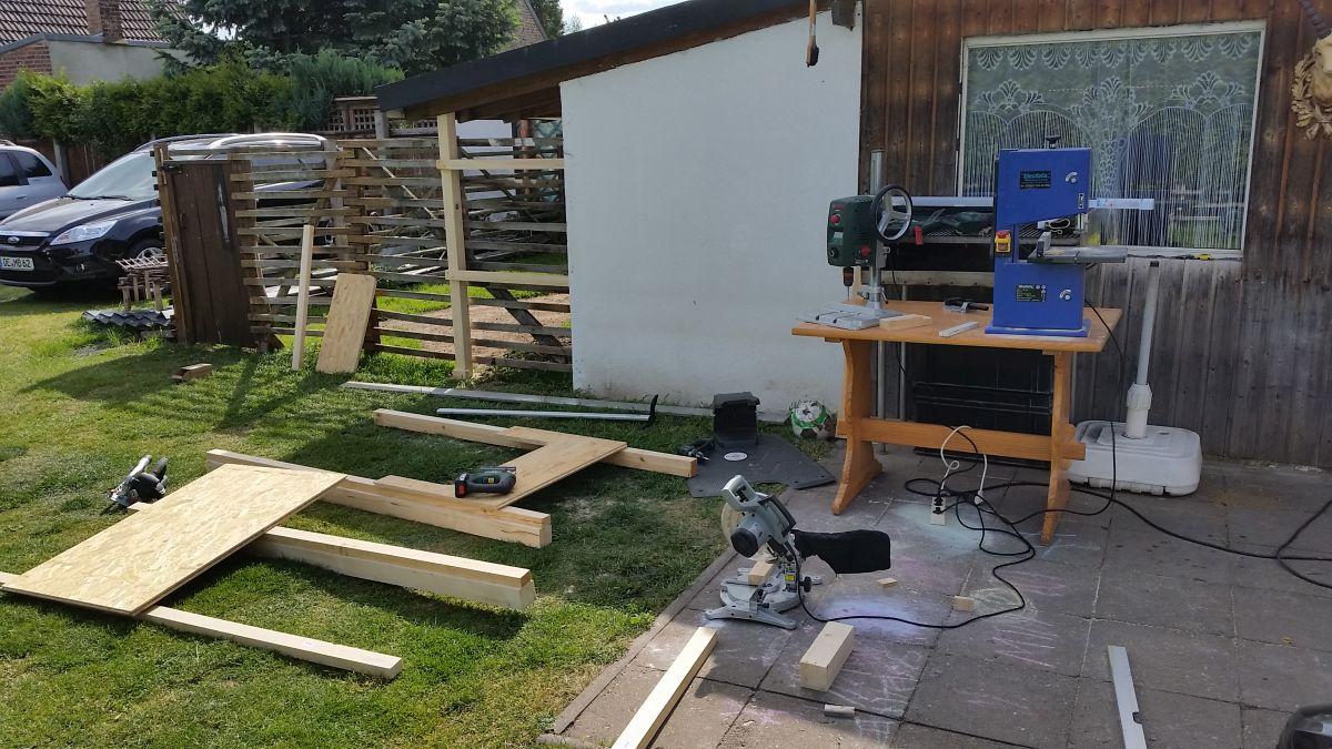 Mähroboter Garage bauen