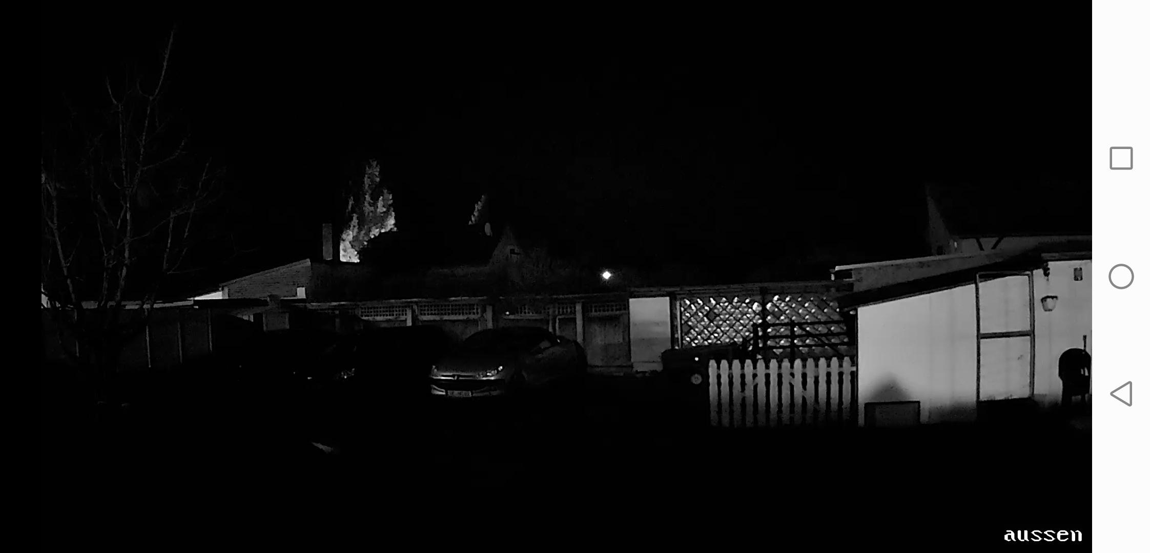 Überwachungskamera Test Bildqualität Nacht ohne Infrarot