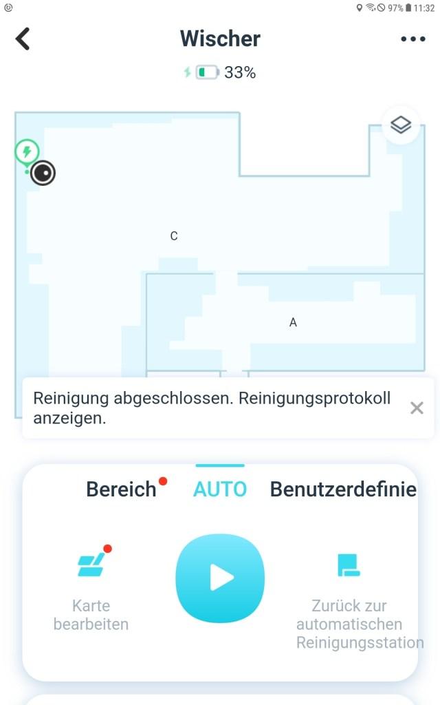 Test Wischroboter Station
