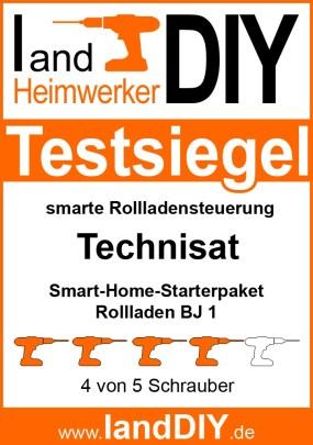 Testsiegel TechniSat Smart-Home-Starterpaket Rollladen BJ 1