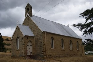 Old country church in traditional style (click to enlarge or to source). This is similar to the church in Booleroo Whim.