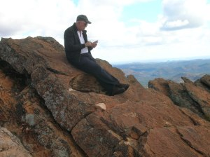 Brother Neil at the top checking emails (click to enlarge).