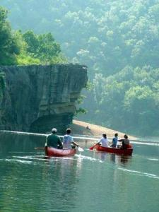 When the Buffalo River is placid (click to enlarge or to source).