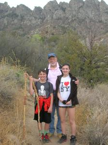 Stress-free hiking with g-kids in Organ Mountains out of Las Cruces (click to enlarge).