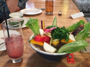 Raw veggie plate at True Food Kitchen in Scottsdale (click to enlarge).
