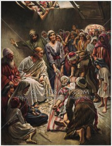 Jesus heals the Paralytic, by Harold Copping (click to enlarge or to source).
