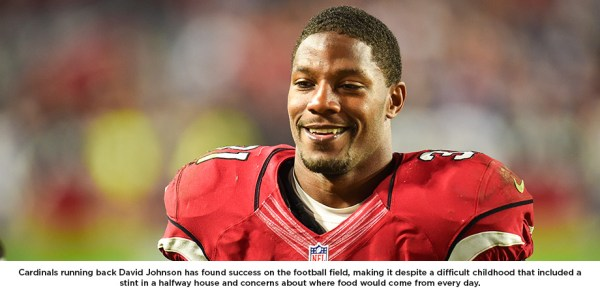 David Johnson, running back for Arizona Cardinals (click to enlarge or to source, then back-arrow to return to blog). You can see Johnson playing on TV this Sunday evening at 8:30 ET.