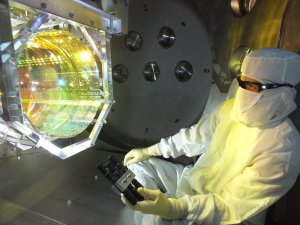 The gravity-wave detector bounces lasers off high-precision mirrors to measure tiny changes in length (click to enlarge or to source, then back-arrow to return to blog).