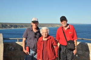 My mother and two of her sons, Clive and Ian.