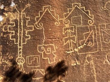 The Petroglyphs in sandstone